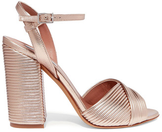Tabitha Simmons Kali Metallic Leather Sandals