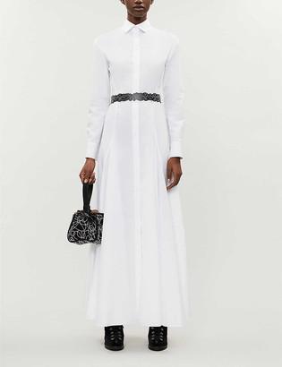 Azzedine Alaia Cotton-poplin midi dress