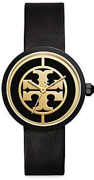 Tory Burch Women's Reva Goldtone Stainless Steel & Leather Strap Watch