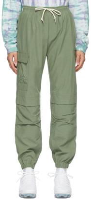 John Elliott Green Cotton Himalayan Lounge Pants