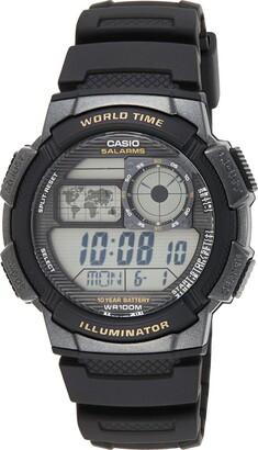 Casio Men's Digital Quartz Watch with Plastic Strap AE-1000W-1AVEF