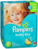 Pampers Baby Dry Diapers Size 6, 35+ lb - 4 packs of 21, Pack of 2