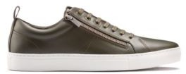 HUGO Low-top trainers in nappa leather with side zips