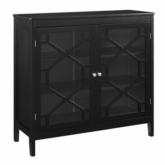 Linon Ava Black Large Cabinet