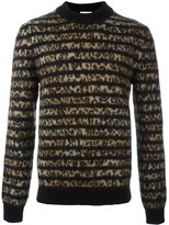 Saint Laurent contrast panel sweater - men - Polyamide/Mohair/Virgin Wool - XL