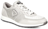 Ecco Gravel & White Sneak Trainer - Women