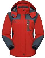 Diamond Candy Sportswear Women's Hooded Softshell Raincoat Waterproof Jacket 5 XS