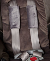 Smooth Graphite Minky Car Seat Strap Cover Set