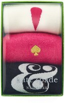 Kate Spade Women's Ampersand/exclamation Point 3-Pack Crew Socks