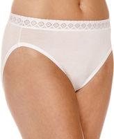 Jockey Nylon High Seamless French Lace Cut Panty