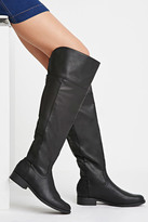 Forever 21 Over-the-Knee Faux Leather Boots