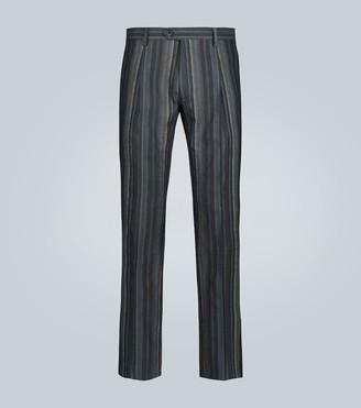 Etro Linen and cotton-blend pants