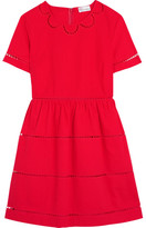 RED Valentino Embroidered Cotton Mini Dress - IT42