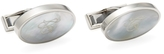 Canali Stainless Steel Oval Cufflinks