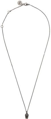 Alexander McQueen Silver Skull Necklace