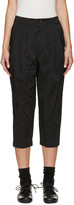 Comme des Garcons Black Cropped Pleated Trousers