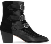 Isabel Marant Dickey Leather And Suede Boots - Black