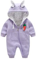 Janeyer® Janeyer Toddler Baby Kids Thick Hoodie Rompers Rabbit Cosplay Bodysuit Outfit