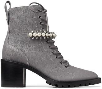Jimmy Choo Cruz 65mm pearl-embellished ankle boots
