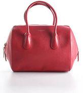 Nina Ricci Red Leather Gold Tone Smalle Rouge Youkali Satchel Handbag 90059607