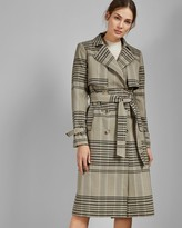 Ted Baker Buckle Cuff Check Trench Coat