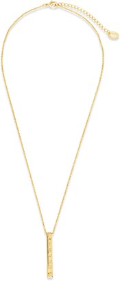 Sterling Forever Moon Phase Bar Pendant Necklace