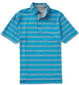 Bobby Jones Golf XH2O Wren Heather Striped Stretch Jersey Short-Sleeve Polo Shirt