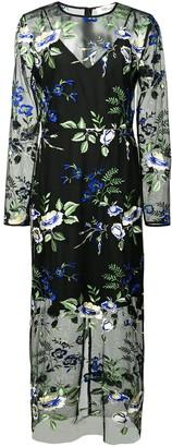 Dvf Diane Von Furstenberg Sheer Floral Dress
