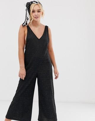 Gilli slouchy culotte jumpsuit-Black