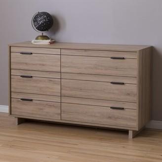 South Shore Fynn 6 Drawer Double Dresser Finish: Rustic Oak