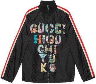 Gucci Children's Yuko Higuchi print GG nylon jacket