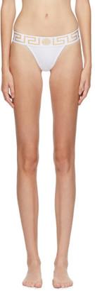 Versace Underwear White Medusa Thong