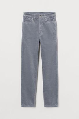 H&M Corduroy Pants - Gray