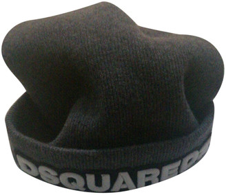 DSQUARED2 Grey Wool Hats & pull on hats