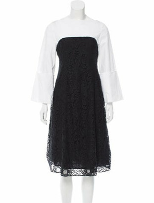 Creatures of the Wind Guipure Lace Midi Dress White
