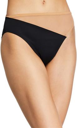 Norma Kamali Snake Mesh High-Waist Bikini Bottom