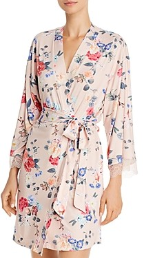 Flora Nikrooz Floral Butter Knit Wrap Robe