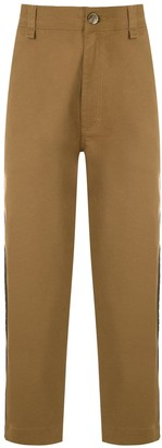 À La Garçonne Side Stripes Chino Trousers