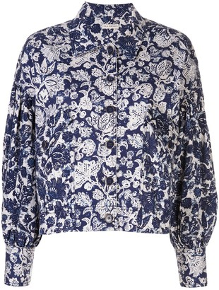Ulla Johnson Floral Print Denim Jacket