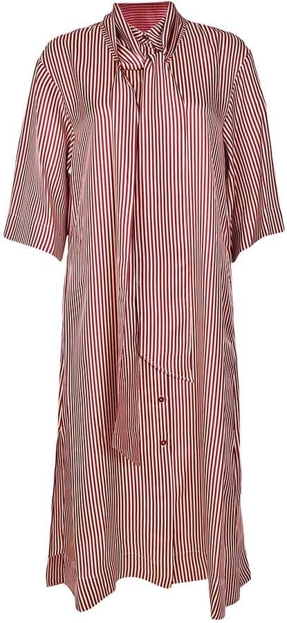 Diane von Furstenberg Pinstriped Long Dress