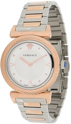 Versace V-Motif 35mm two-tone watch