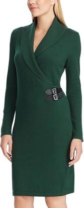 Chaps Women's Shawl Collar Sweater Dress