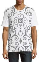 Versace Abstract-Design Cotton Tee