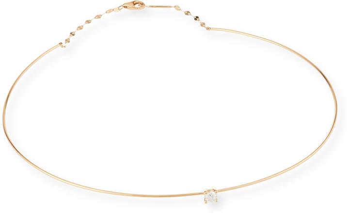Lana 14k Gold Wire Choker Necklace w/ Diamond