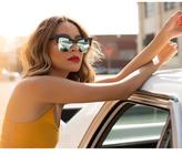 Quay x Desi Perkins TYSM Cat Eye Sunglasses in Black/Mint as seen on Desi Perkins