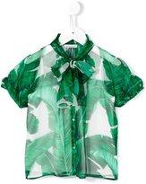 Dolce & Gabbana banana leaf print chiffon shirt