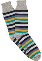 Corgi Multi Stripe Sock in Navy
