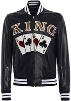 Dolce & Gabbana King Cards Patch Bomber