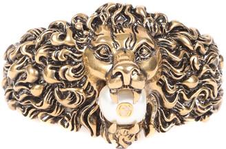 Gucci Lion Gg Pearl Bracelet