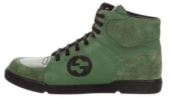 Gucci Leather GG Sneakers w/ Tags